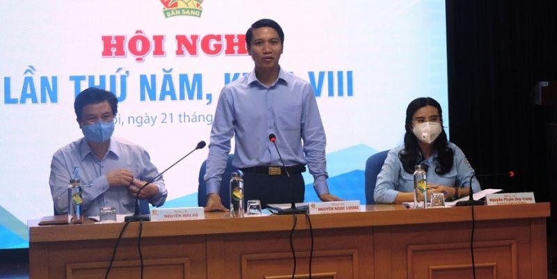 Đồng chí Nguyễn Ngọc Lương, Bí thư Trung ương Đoàn, Chủ tịch Hội đồng Đội Trung ương phát biểu tại chương trình