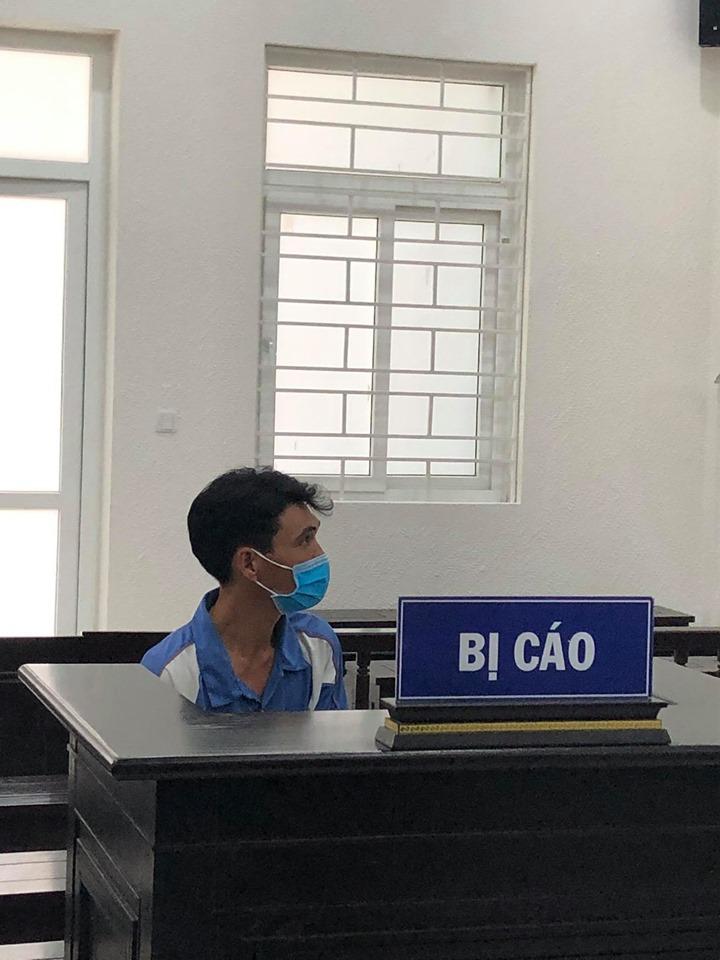 Bị cáo Huân tại tòa