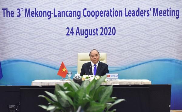 Thủ tướng Nguyễn Xuân Phúc dự Hội nghị Mekong - Lan Thương trực tuyến tại điểm cầu Hà Nội