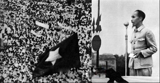 Ngày 2/9/1945, tại Quảng trường Ba Đình, Chủ tịch Hồ Chí Minh đọc Tuyên ngôn độc lập khai sinh nước Việt Nam Dân chủ Cộng hòa. (ảnh TL)