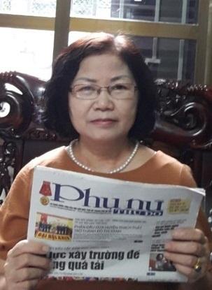 Bà Dương Thị Sửu - Chi hội trưởng Chi hội Phụ nữ số 10  Hội phường Khương Đình, quận Thanh Xuân