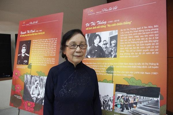 Bà Phương Kim Dung - nguyên Chủ tịch Hội LHPN Hà Nội, kiêm Tổng Biên tập đầu tiên của báo PNTĐ