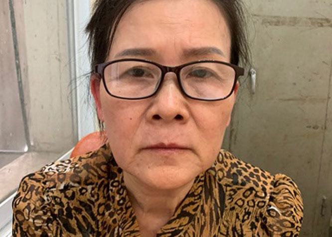 """Đối tượng Vũ Thị Thái Hòa bị khởi tố , bắt giam về tội """"Làm giả con dấu, tài liệu của cơ quan, tổ chức""""."""