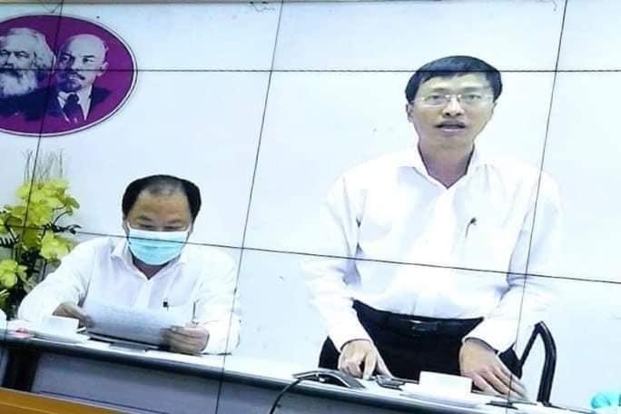 PGS.TS Phan Trọng Lân phát biểu từ đầu cầu Thành phố Hồ. Chí Minh trong một buổi giao ban phòng chống địch COVID-19 trực tuyến của Bộ Y tế