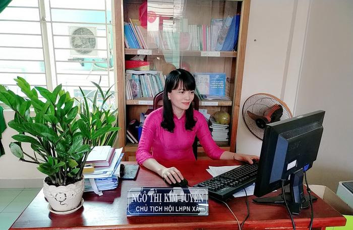 Chị Ngô Thị Kim Tuyến, Chủ tịch Hội LHPN xã Hòa Nhơn
