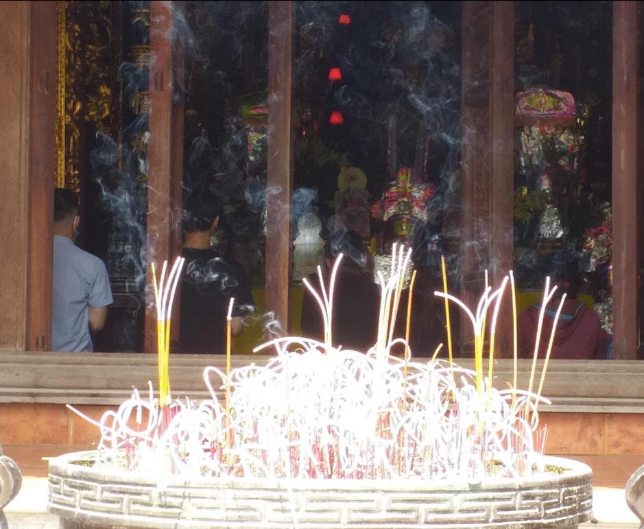 Không khí thanh tịnh tại buổi lễ Vu Lan tại chùa Tảo Sách