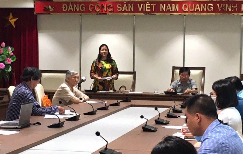 Phó Giám đốc Sở Công Thương Hà Nội Trần Thị Phương Lan thông tin đến báo chí.