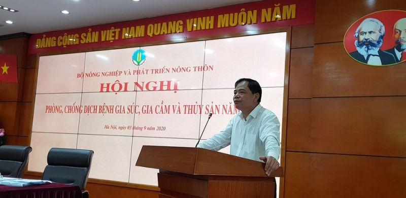 Bộ trưởng Bộ Nông nghiệp và PTNT phát biểu tại hội nghị.