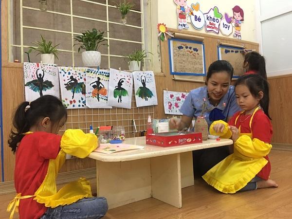 Trường mầm non Quang Trung, quận Hà Đông đã sẵn sàng các điều kiện an toàn để đón học sinh tựu trường