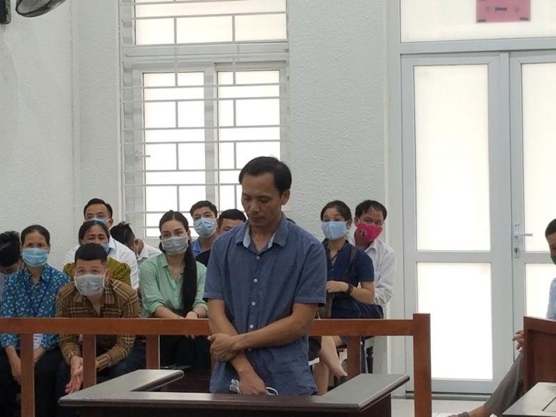 Bị cáo Vũ Khánh Sơn tại tòa