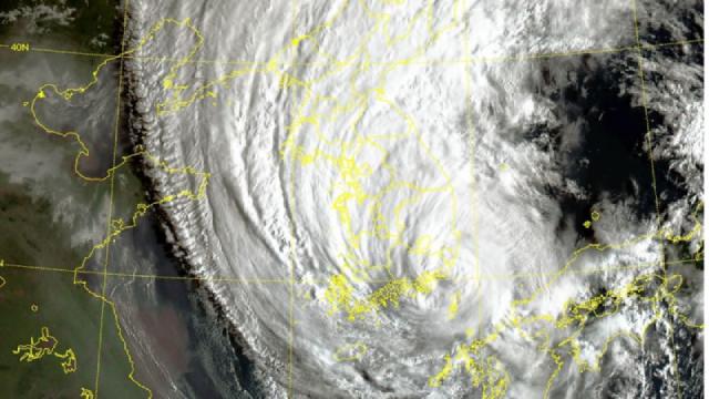 Hình ảnh bão Haishen chuyển động dọc bán đảo Triều Tiên ngày 7/9. (Nguồn: DPA)