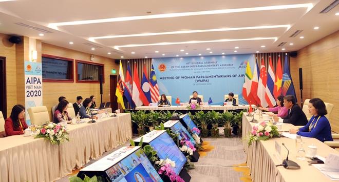 Toàn cảnh phiên họp Hội nghị Nữ nghị sỹ AIPA (WAIPA)