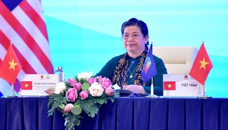 Phó Chủ tịch Thường trực Quốc hội, Trưởng đoàn đại biểu Quốc hội Việt Nam tại AIPA 41 Tòng Thị Phóng