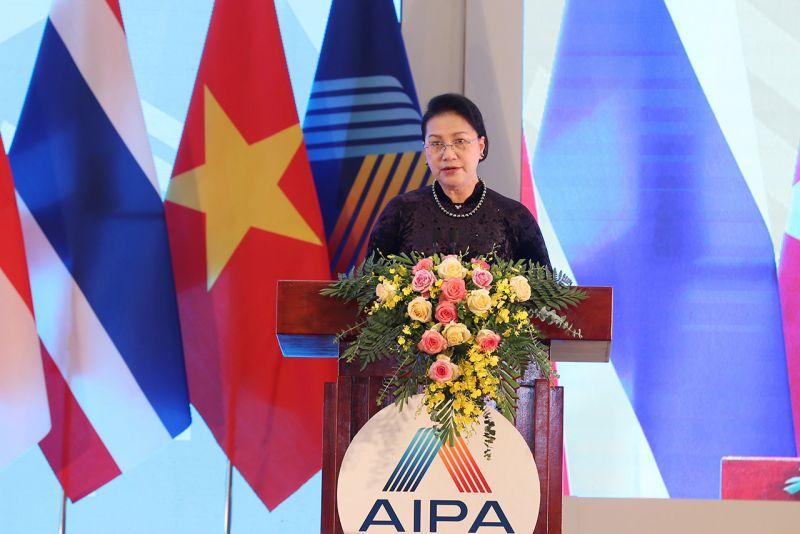 Chủ tịch Quốc hội Nguyễn Thị Kim Ngân phát biểu bế mạc Đại hội đồng AIPA lần thứ 41