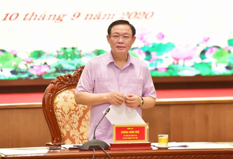 Bí thư Thành ủy Hà Nội phát biểu