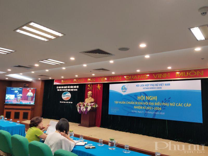 Các đại biểu tham gia tập huấn tại điểm cầu Hà Nội