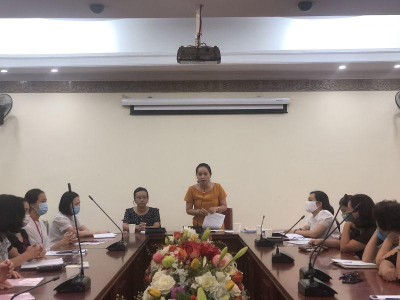 Đ/c Nguyễn Lan Hương, Chủ tịch Hội LHPN quận Đống Đa kết luận Tọa đàm