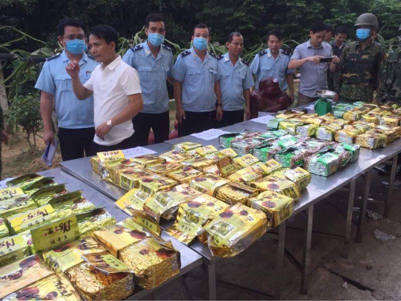 Cơ quan Hải quan cùng các đơn vị chức năng phát hiện và bắt giữ 98kg ma túy