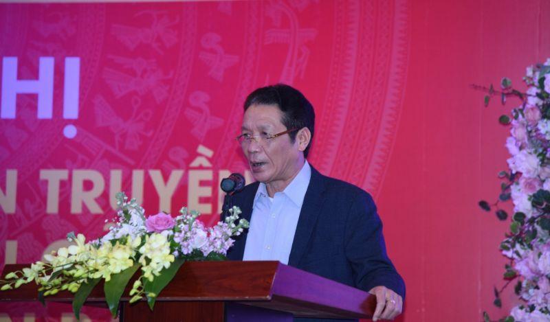 Thứ trưởng Bộ Thông tin và Truyền thông Hoàng Vĩnh Bảo phát biểu