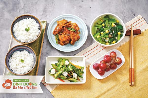 Thực đơn bữa trưa đảm bảo dinh dưỡng cho mẹ và thai nhi