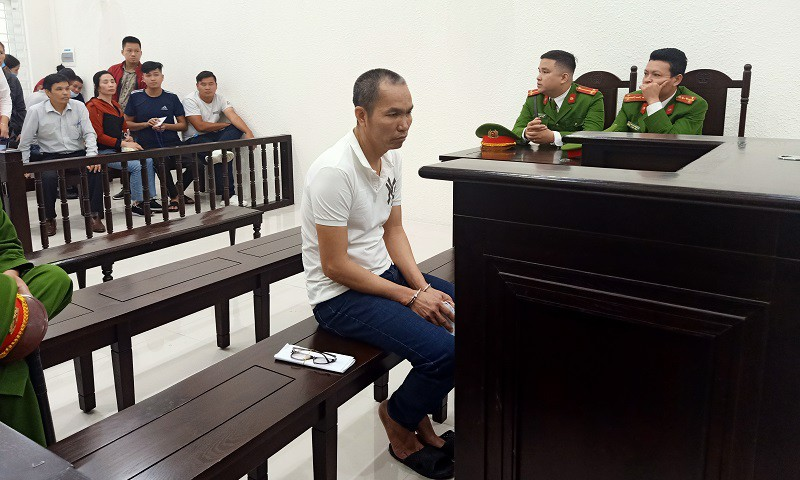 Bị cáo Tạc tại phiên toà sơ thẩm