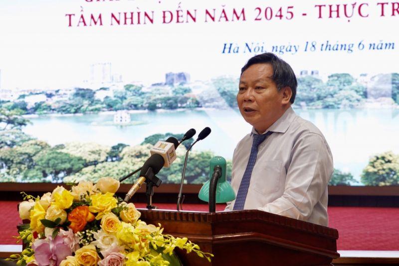 Phó Bí thư Thành ủy Hà Nội Nguyễn Văn Phong phát biểu tại buổi tọa đàm