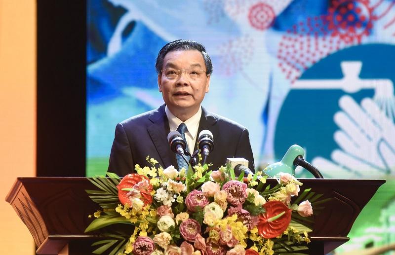Chủ tịch UBND TP Hà Nội Chu Ngọc Anh phát biểu tại Chương trình