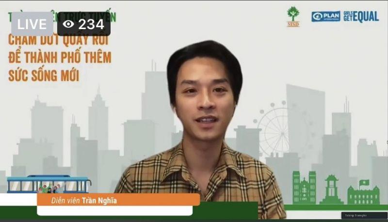 Diễn viên Trần Nghĩa cho rằng, vấn đề này phải được nêu ra, phân tích thì mới đối diện và giải quyết được.
