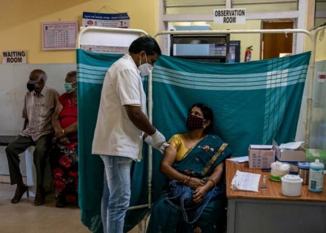 Một đơn vị tiêm chủng ở Ấn Độ.