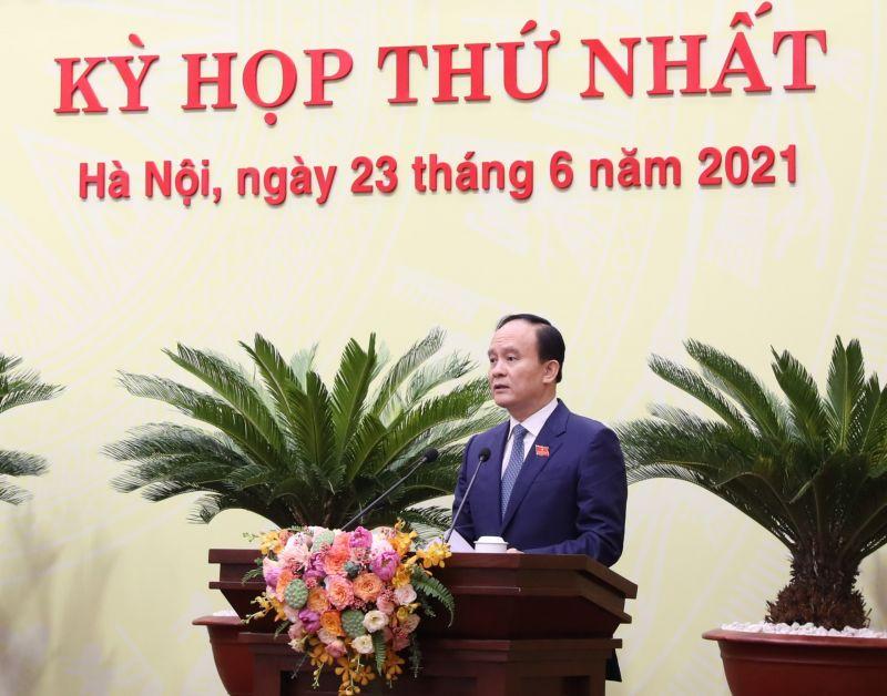 Chủ tịch HĐND TP Nguyễn Ngọc Tuấn phát biểu bế mạc kỳ họp