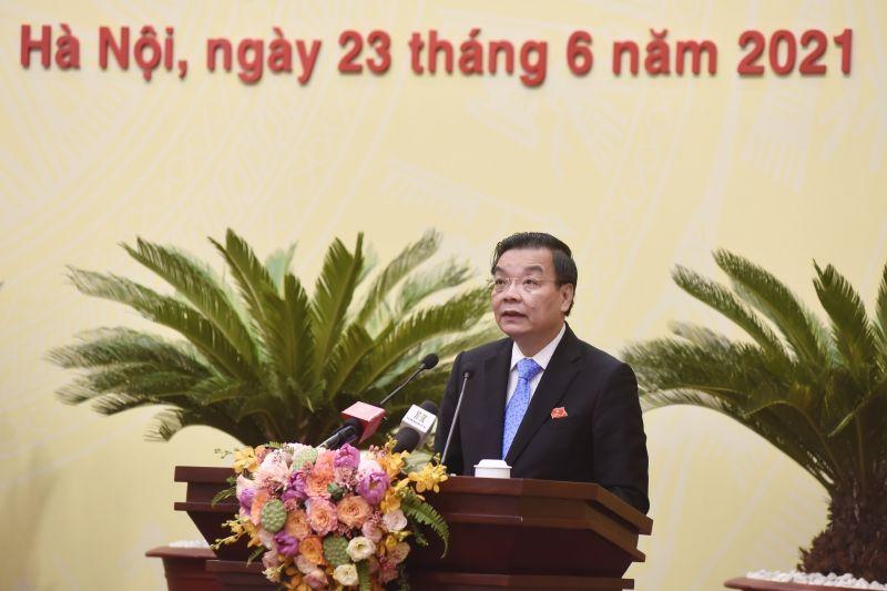 Đồng chí Chu Ngọc Anh, Chủ tịch UBND thành phố phát biểu