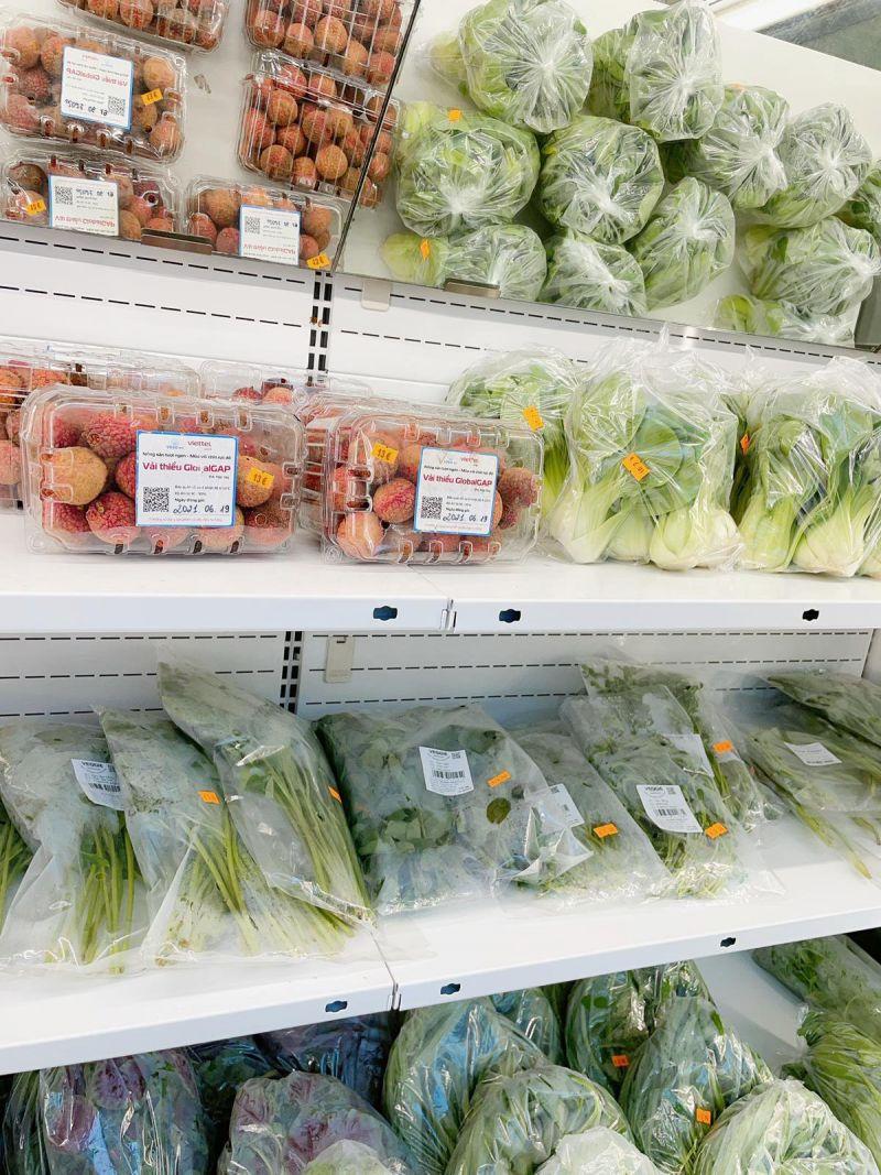 Vải thiều Bắc Giang vào các kệ hàng ở siêu thị