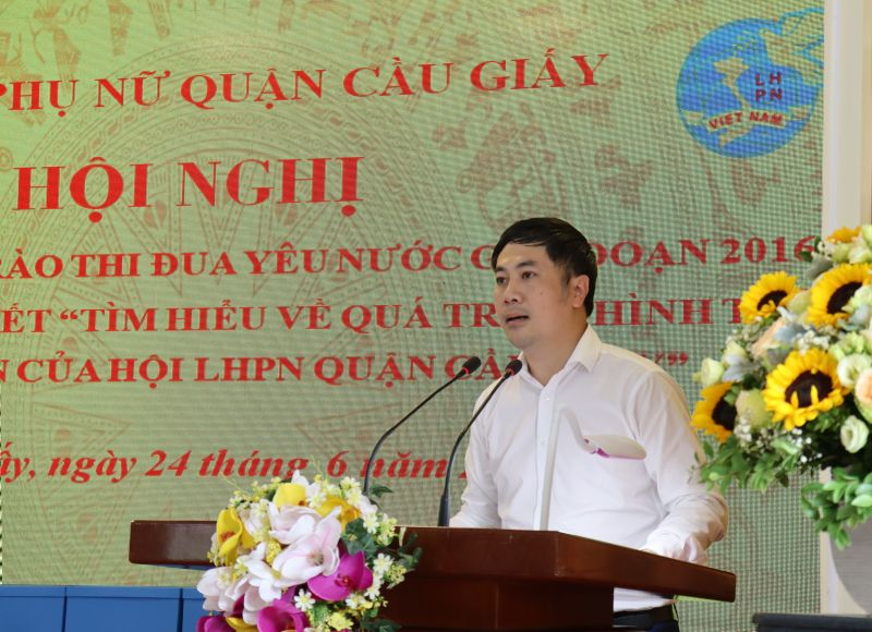 Đồng chí Ngô Ngọc Phương, Ủy viên thường vụ, Trưởng ban Dân vận Quận ủy Cầu Giấy