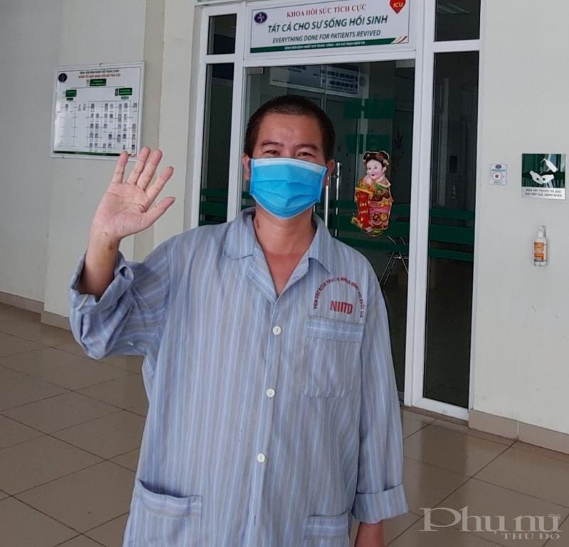 Bệnh nhân N.H.G trước giờ xuất viện.