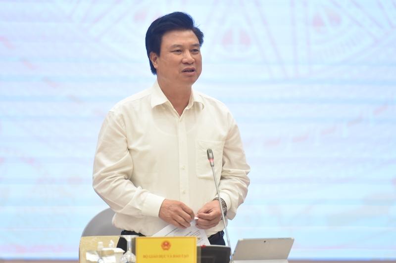 Thứ trưởng Bộ GD&ĐT trả lời vấn đề liên quan đến kỳ thi tốt nghiệp THPT năm 2021. Ảnh: VGP/Quang Hiếu