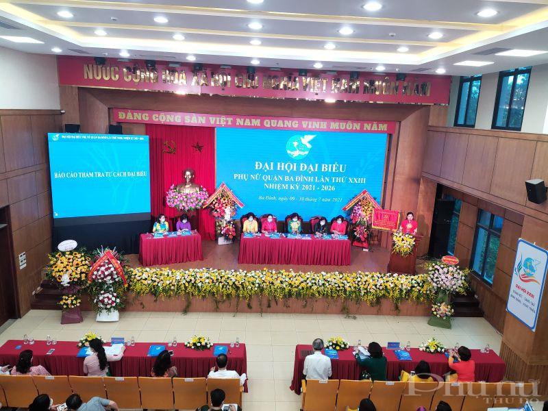 Đại hội được tổ chức bằng hình thức trực tiếp và trực tuyến tại Hội trường UBND quận Ba Đình và hội trường tầng 2 UBND quận Ba Đình