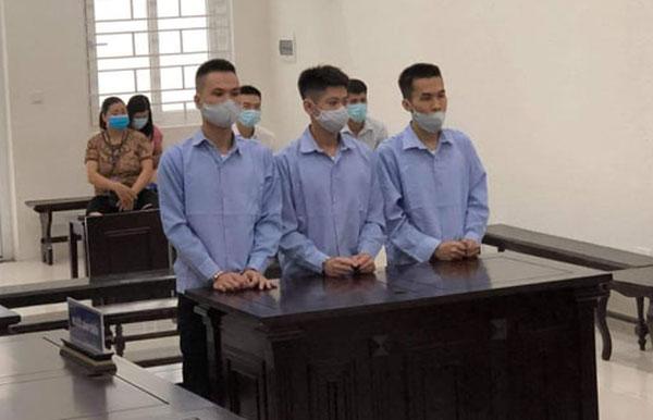 """Bị cáo Hoàng Gia Minh và hai đồng phạm trong vụ án """"Bắt cóc nhằm chiếm đoạt tài sản"""" được đưa ra xét xử ngày 7/7 vừa qua."""