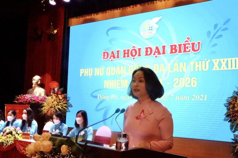 Đồng chí Phạm Thị Thanh Hương phát biểu chỉ đạo Đại hội