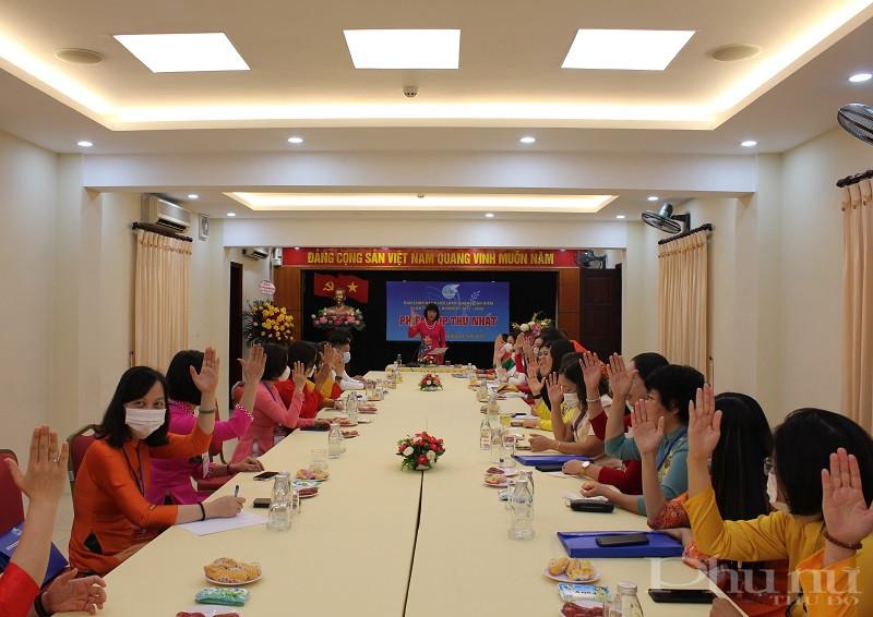 Phiên họp thứ Nhất Ban Chấp hành Hội LHPN quận khóa XXII bầu BTV, Chủ tịch và Phó Chủ tịch Hội LHPN quận