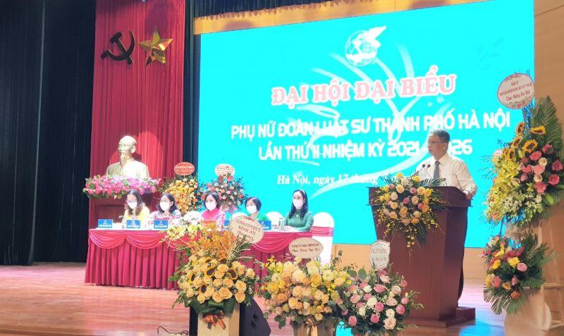 Luật sư Lê Đức Bính, Bí thư Đảng ủy Đoàn Luật sư thành phố Hà Nội phát biểu
