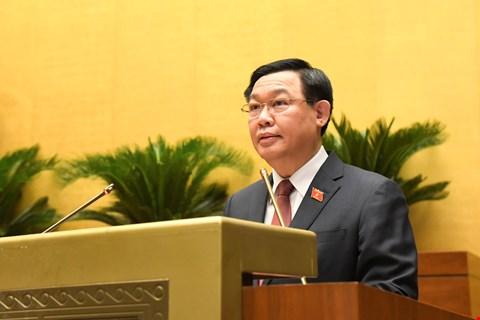 Chủ tịch Quốc hội Vương Đình Huệ phát biểu sau lễ nhậm chức