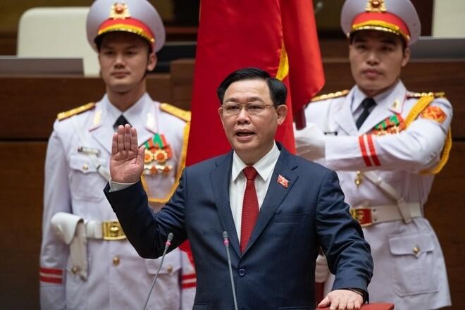 Chủ tịch Quốc hội  Vương Đình Huệ tuyên thệ nhậm chức