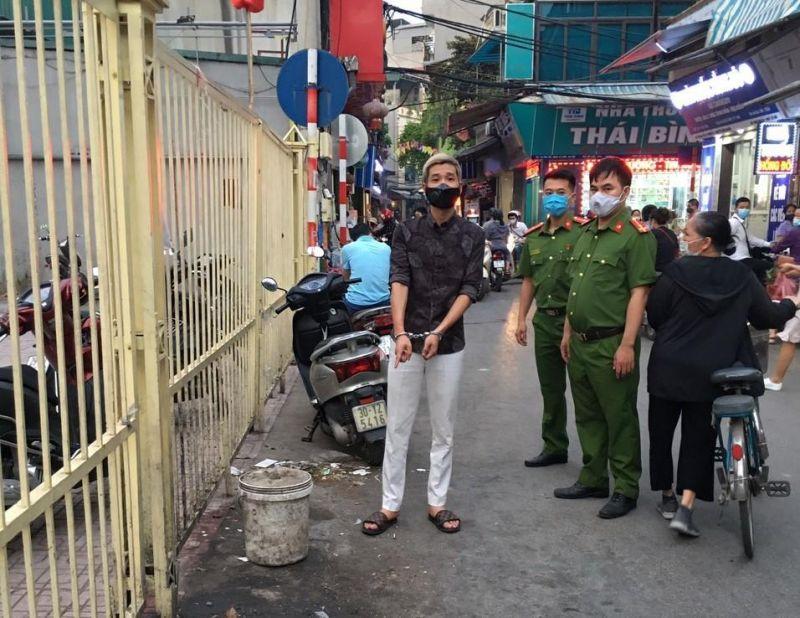 Đối tượng bị cơ quan công an bắt giữ