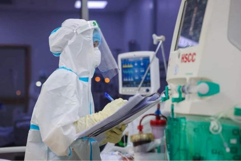 Trong Bệnh viện Hồi sức COVID-19 TP. HCM. Ảnh: Hải An