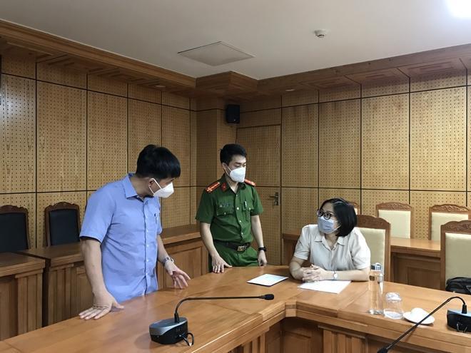 CQĐT làm việc với nữ kế toán Lưu Thị Hằng
