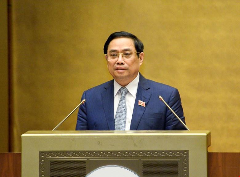 Thủ tướng Chính phủ Phạm Minh Chính trình bày