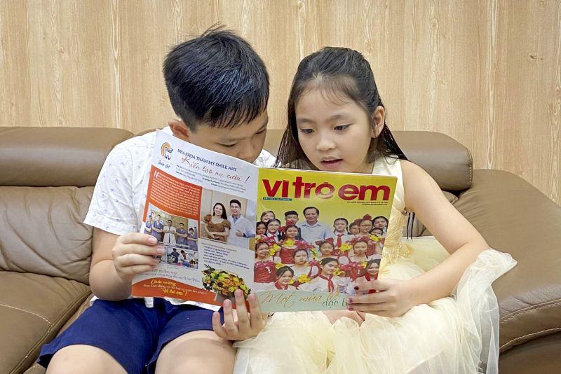 Ấn phẩm Vì trẻ em là cầu nối tin cậy của những người yêu trẻ và những chủ nhân tương lai của đất nước