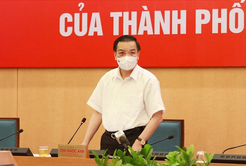 Chủ tịch UBND TP Chu Ngọc Anh, Chỉ huy trưởng chống dịch Covid-19 chủ trì phiên họp giao ban