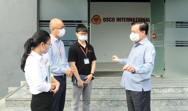 Bí thư Thành ủy Hà Nội kiểm tra công tác phòng, chống dịch