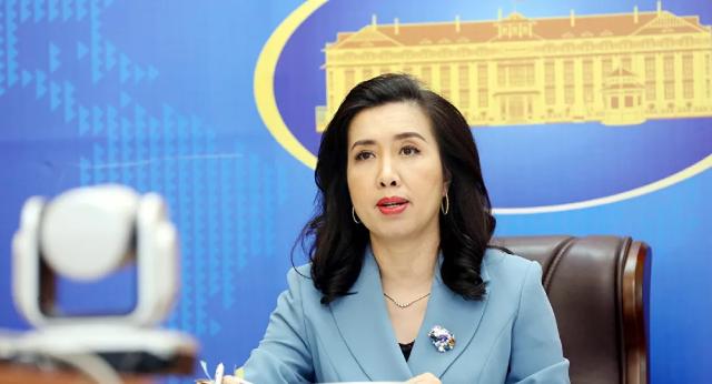 Người Phát ngôn Bộ Ngoại giao Lê Thị Thu Hằng tại cuộc họp báo chiều 5-8.
